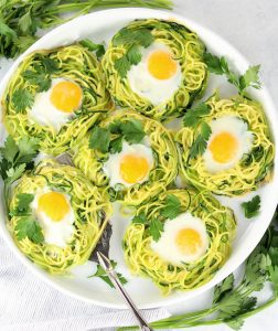 Zoodle Baked Eggs