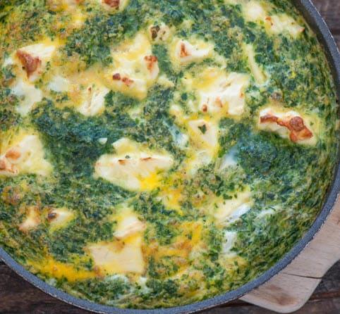 Spinach and Feta Frittata Recipe