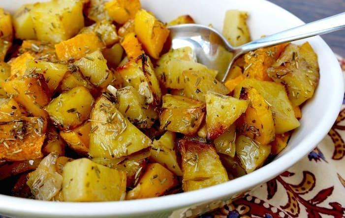 Mediterranean Butternut Squash and Potato
