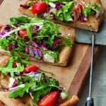 Mediterranean Diet Salad Pizzas