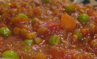 Tomato, Lentil, Garlic Bowl Recipe