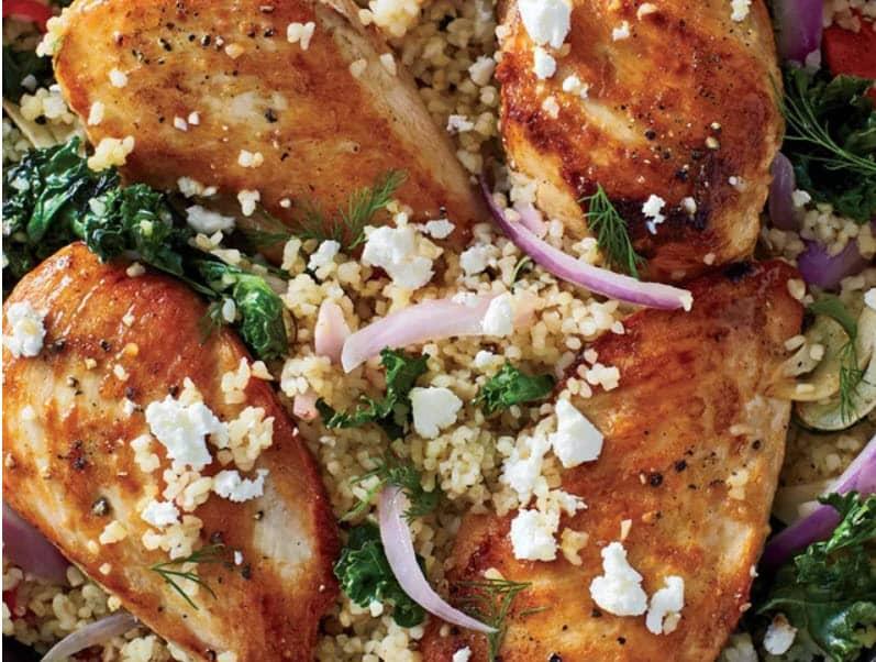 Mediterranean DietChicken and Bulgur Skillet Recipe