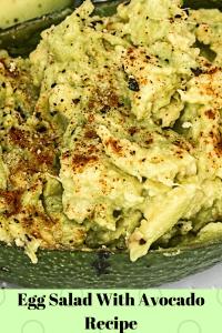 Egg Salad With Avocado Recipe