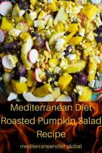 Mediterranean Diet Roasted Pumpkin Salad